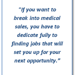How to get entry level medical sales jobs
